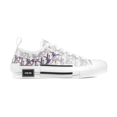 Dior Homme B23 Pixilated Blue And Red Dior Oblique Printed Low-Top Men's Sneakers White