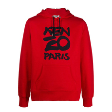 Kenzo Paris Hoodie Medium Red