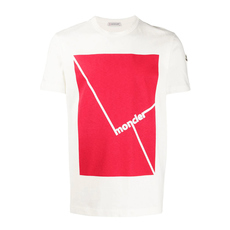 Moncler Screen Print T-Shirt Ivory