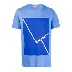 Moncler Screen Print T-Shirt Pastel Blue