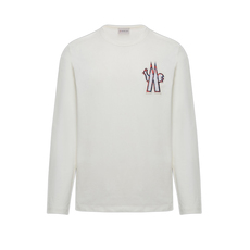 Moncler Embroidered Logo Patch T-Shirt Ivory