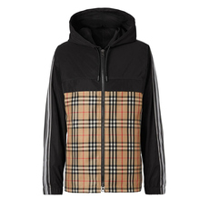 Burberry Check Panel Shape-Memory Taffeta Jacket Archive Beige