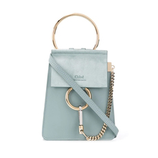 Chloe Faye Small Bracelet Crossbody Bag Faded Blue