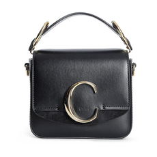 Chloè Mini Chloé C Crossbody Bag Black