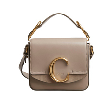 Chloe Mini Chloé C Crossbody Bag Motty Grey