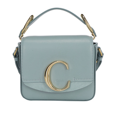 Chloe Mini Chloé C Crossbody Bag Faded Blue