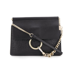 Chloe Faye Mini Chain Crossbody Bag Black