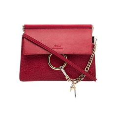 Chloe Faye Mini Chain Crossbody Bag Fuchsia