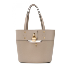 Chloe Small Aby Tote Bag Motty Grey