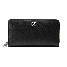 Gucci Gg Metal Zip Around Wallet Black