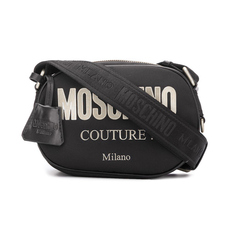 Moschino Logo Sign Crossbody Bag Black/Sliver