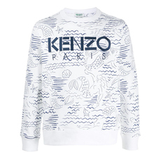 Kenzo Paris 'Mermaids' Sweatshirt White