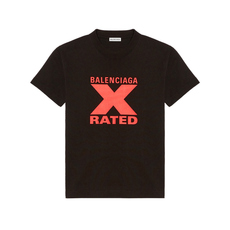 Balenciaga X-Rated Small Fit T-Shirt Black/Red