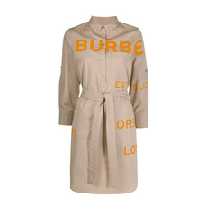 Burberry Horseferry Print Dress Soft Fawn