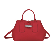Longchamp Roseau Shoulder Bag Red