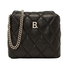 Balenciaga B Square Crossbody Bag Black