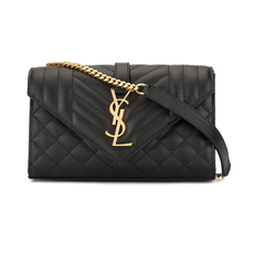 Yves Saint Laurent Envelope Small Shoulder Bag Black/Gold