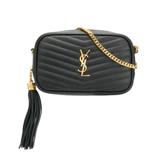 Yves Saint Laurent Lou Mini Crossbody Bag Black/Gold
