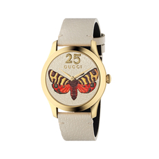 Gucci Butterfly G-Timeless 38mm Casual Watch in Beige/Gold