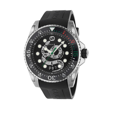 Gucci Dragon Dive 45mm Casual Watch in Black/Black