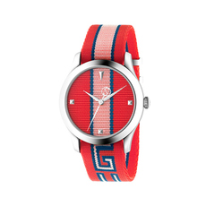 Gucci Orologio G-Timeless 38mm Casual Watch in Red,Pink/Silver