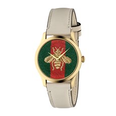 Gucci Bee G-Timeless 38mm Casual Watch in Beige/Gold