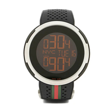 Gucci Digital Dial G-Timeless 49mm Casual Watch in Black/Silver