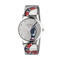 Gucci Kingsnake G-Timeless 38mm Casual Watch in Silver/Silver