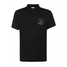 Moncler Logo Graphic On The Chest Polo Tee Black