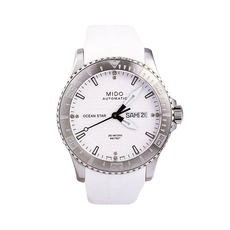 Mido Day-Date Mechanical Automatic Watch in White