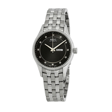 Mido Day-Date Mechanical Automatic Watch in Silver