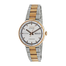 Mido Day-Date Mechanical Automatic Watch in Rose Gold/Silver
