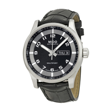 Mido Day-Date Mechanical Automatic Watch in Black