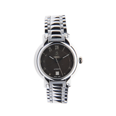Ernest Borel Date Mechanical Automatic Watch in Silver