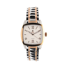 Ernest Borel Date Mechanical Automatic Watch in Rose Gold/Silver