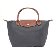 Longchamp Small Le Pliage Tote Bag Gun Metal