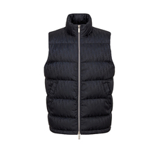 Christian Dior Oblique Down Vest Navy Blue