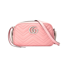 Gucci GG Marmont Small Shoulder Bag Pastel Pink