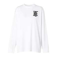 Burberry Long Sleeve Monogram Motif T-Shirt White