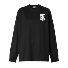 Burberry Long Sleeve Monogram Motif T-Shirt Black