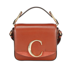 Chloe Mini Chloé C Crossbody Bag Sepia Brown