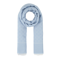 Gucci GG Jacquard Scarf Light Blue