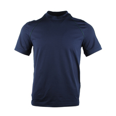 Prada Shoulder Piping With Logo T-Shirt Navy