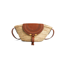 Chloè Small Marcie Basket Bag Tan