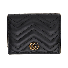 Gucci GG Marmont Chain Wallet Black