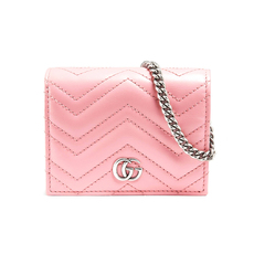 Gucci GG Marmont Chain Wallet Pastel Pink