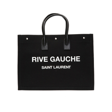 Saint Laurent Noe' Rive Gauche Large Tote Bag Black