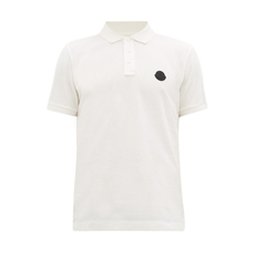 Moncler Logo On Chest Polo Tee White