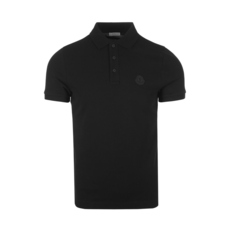 Moncler Logo On Chest Polo Tee Black