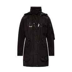 Burberry Horseferry Print Shape-Memory Taffeta Coat Black